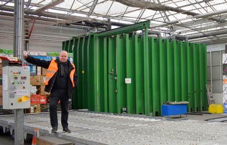 Mark next to 1 of the 4 vacuum coolers at IPH